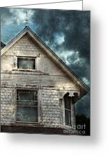 Old Victorian House Detail Greeting Card