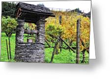 Old Water Well Greeting Card