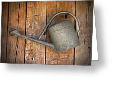 Old Watering Can Greeting Card