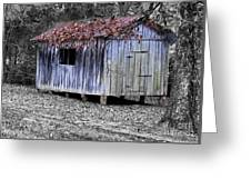 Old Weathered Shed Greeting Card
