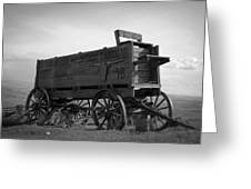 Old West Wagon Greeting Card