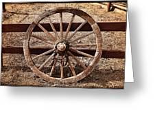 Old West Wheel Greeting Card by Kelley King