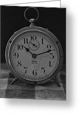 Old Westclock In Black And White Greeting Card
