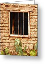 Old Western Jailhouse Window Greeting Card