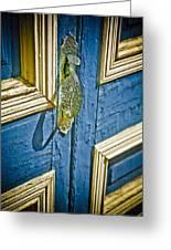 Old Wood Door Greeting Card