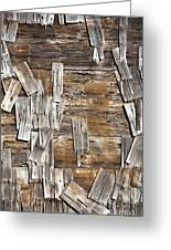 Old Wood Shingles On Building, Mendocino, California, Ca Greeting Card