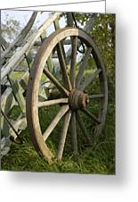 Old Wooden Cartwheel - Nostalgia Greeting Card