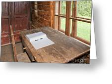 Old Wooden Desk And Chair Greeting Card by Jaak Nilson