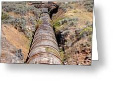 Old Wooden Water Pipeline - Rural Idaho Greeting Card