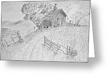Old Woodshed II Greeting Card by Debbie Portwood