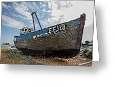 Old Wrecked Fishing Boat Greeting Card