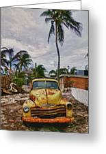 Old Yellow Truck Florida Greeting Card