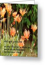 Old Zen Proverb Greeting Card