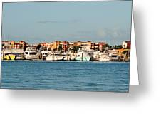 Olde Naples Seaport Greeting Card