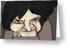 Older Female Greeting Card by Oscar Cielos
