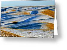 Oldman River Valley In Winter Greeting Card