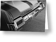 Olds Cs In Black And White Greeting Card