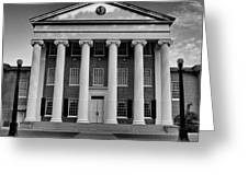 Ole Miss Lyceum Black And White Greeting Card
