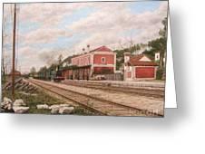 Oliveira Do Bairro Train Station Xix - Estacao Comboio De Oliveira Do Bairro Portugal Greeting Card