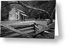 Oliver's Cabin In The Great Smokey Mountains Greeting Card