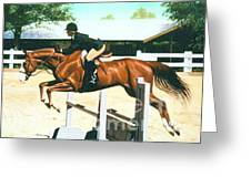 Oliver's Oxer Greeting Card
