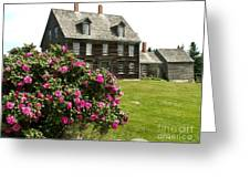 Olson House With Flowers Greeting Card