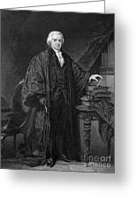 Olvier Ellsworth (1745-1807). Chief Justice Of The United States Supreme Court, 1796-1799. Steel Engraving, 1863 Greeting Card