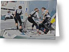 Olympic Class Racing Greeting Card