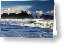 Olympic Ocean Swirls Greeting Card