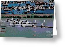Olympic Rowing Greeting Card