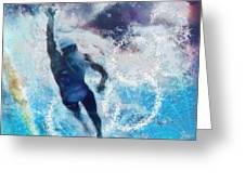 Olympics Swimming 01 Greeting Card