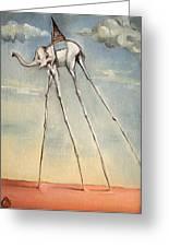 Omaggio A Salvador Dali' 2010 Greeting Card by Simona  Mereu