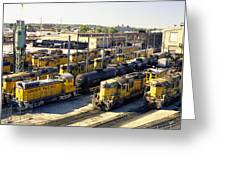 Omaha Union Pacific Maintenance Shops Greeting Card