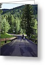 On A Country Road - Vail Greeting Card