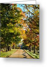 On A Country Road Greeting Card