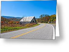 On A Roll In West Virginia Greeting Card