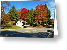 On A West Virginia Road Painted Greeting Card