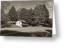 On A West Virginia Road Sepia Greeting Card
