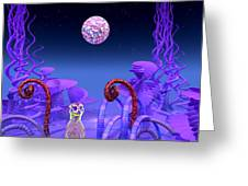 On Another Planet Greeting Card by Douglas Barnard