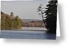 On Bear Creek Lake Greeting Card