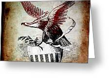 On Eagles Wings Greeting Card