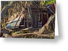 On Evergreen Plantation In La Greeting Card