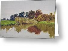 On The Arun Stoke Sussex  Greeting Card