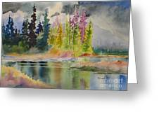 On The Colourful Pond Greeting Card