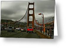 On The Golden Gate Greeting Card