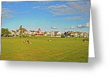 On The Green At Marthas Vineyard Greeting Card