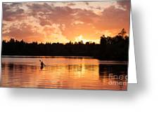 On The Lake Greeting Card