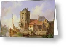 On The Rhine Greeting Card by Cornelius Springer