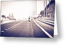 On The Road Greeting Card by Amr Miqdadi