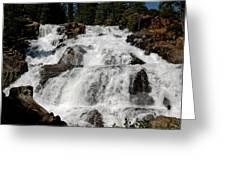 On The Rocks Glen Alpine Falls Greeting Card